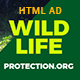 Wild Life Protection NGO Organization HTML Banner