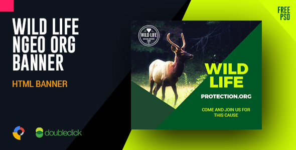 Download Wild Life Protection NGO Organization HTML Banner