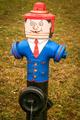 Funny colourful hydrant