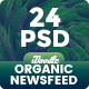 NewsFeed Food & Restaurant, Organic Comestic, Drinks Juice Banner Ad - 24PSD