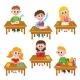 Elementary School Kids in Classroom - Reading