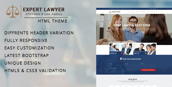Download Lawyer - Company HTML Template