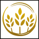Organic Wheat Circle Logo