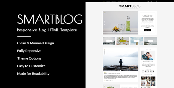 SmartBlog - Responsive Blog HTML Template
