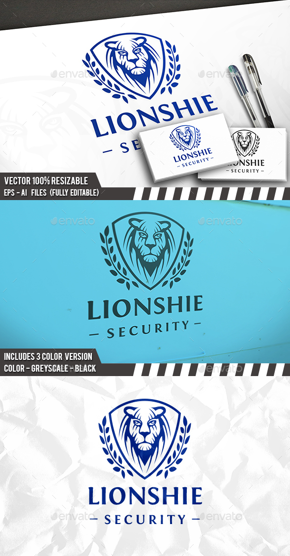 Lion Face Shield Logo