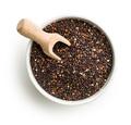 Black quinoa seeds.