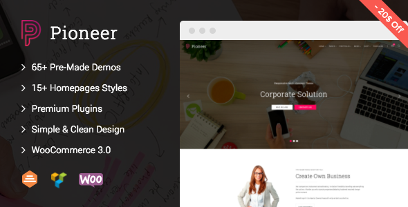 Download Pioneer - Multi-Concept Corporate WordPress Theme