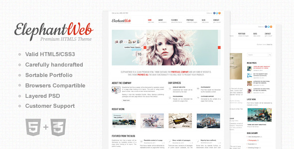 Elephant Web - Premium HTML/CSS Website Template