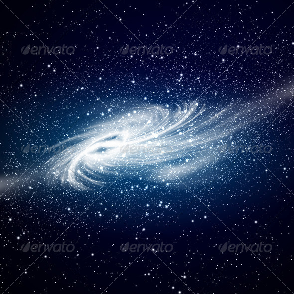 Space galaxy image - Stock Photo - Images