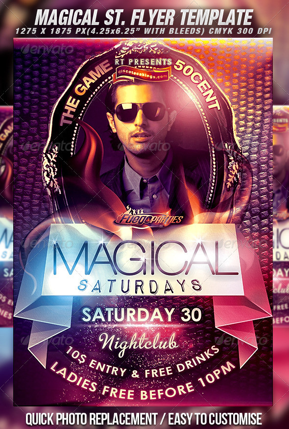 Magical Saturdays Flyer Template Vol.2 - Clubs & Parties Events