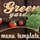 Green garden - Flyer & Menu - photos included - GraphicRiver Item for Sale