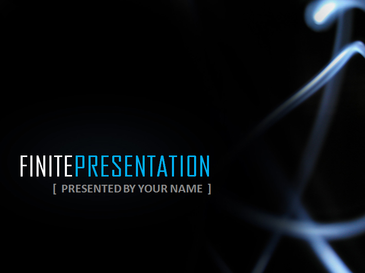 Finite Presentation - Slick Powerpoint Template  - Title Page - Here's where you dim the lights, cue the pounding techno music and begin to bellow the topic of your presentation....if thats how you want to do your delivery!