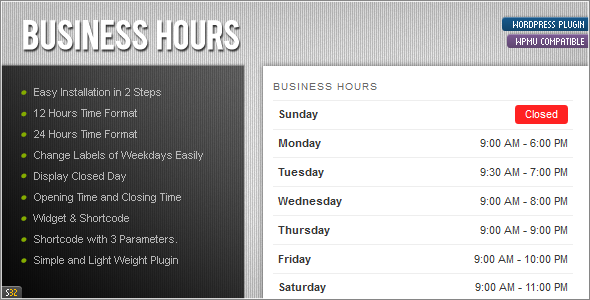 CodeCanyon ATP Business Hours 1980450