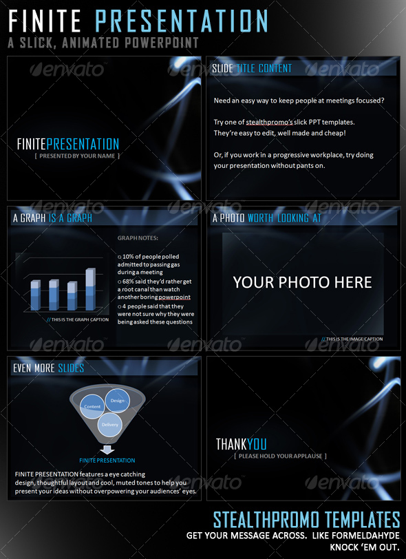 Finite Presentation - Slick Powerpoint Template  - Business Powerpoint Templates