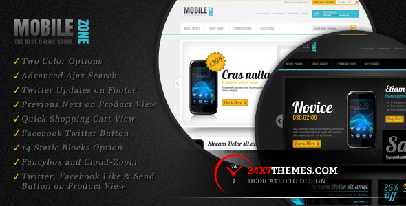 Mobile Zone Magento Theme