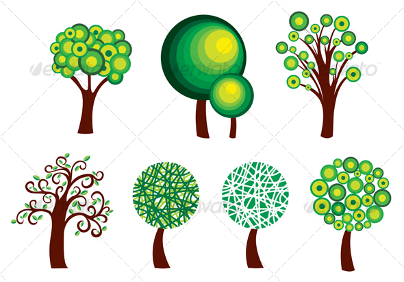 GraphicRiver Set of tree symbols 76146
