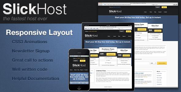 mfx - Responsive SlickHost Landing Page
