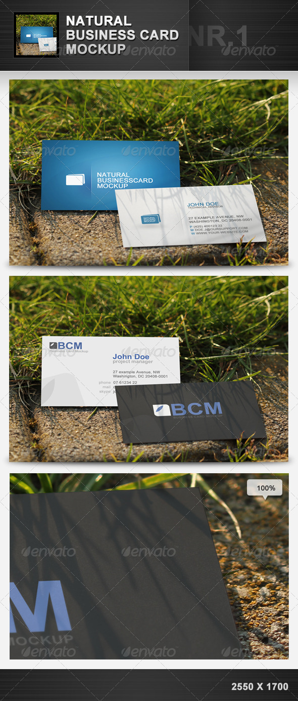 GraphicRiver Natural Business Card Mockup 1 1946671
