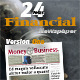 24 Pages Financial Newspaper Version One - GraphicRiver Item for Sale