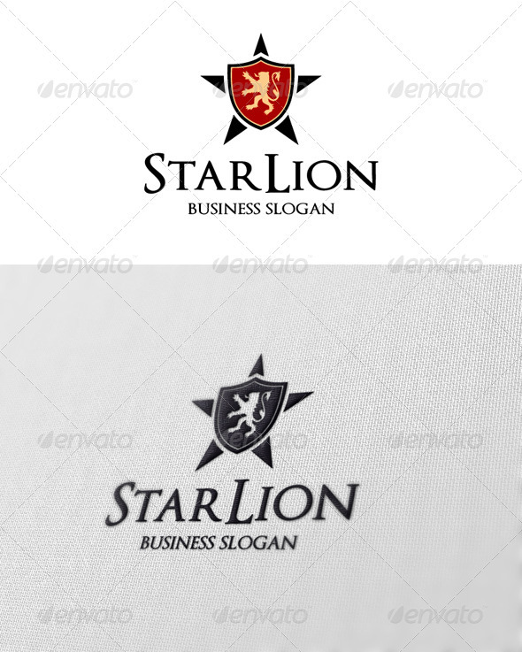 Star Lion - Crests Logo Templates