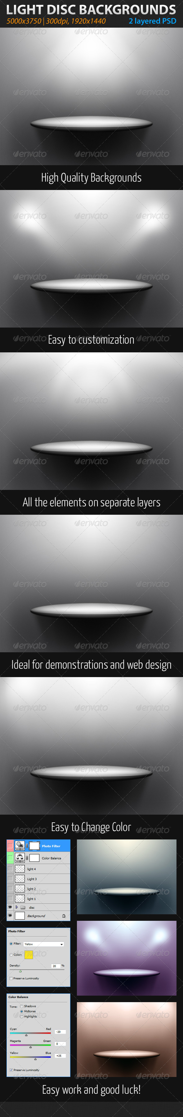 GraphicRiver Light Disc Backgrounds 1984470