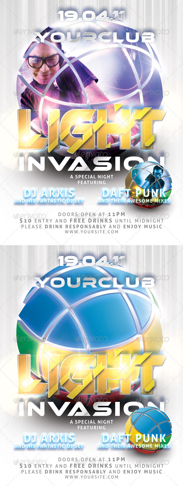 GraphicRiver Light Invasion Flyer Template 231085