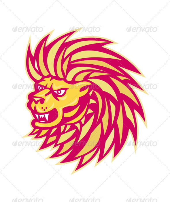 Angry Lion Retro