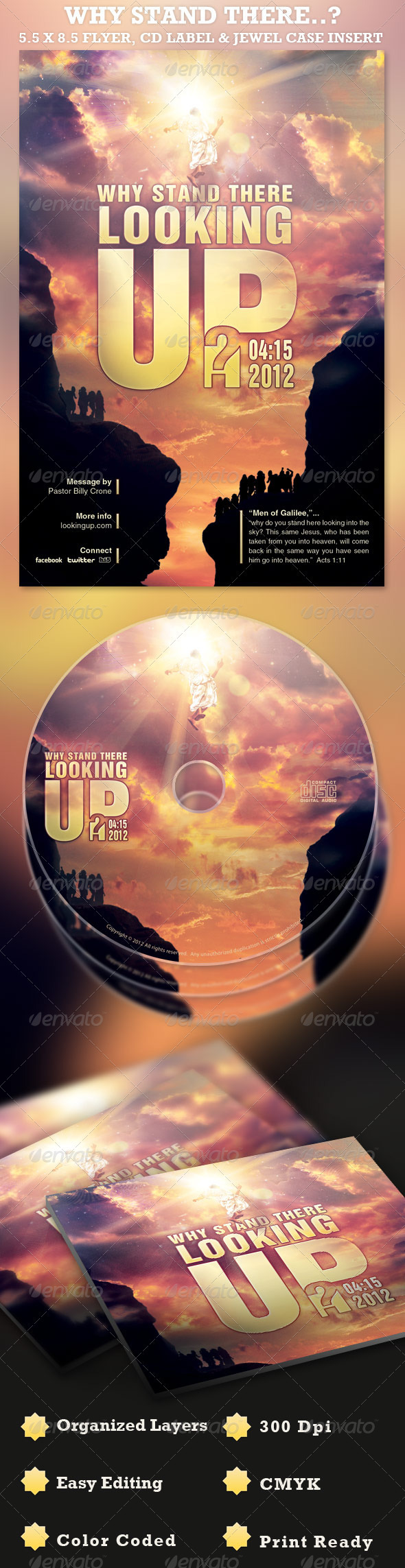 GraphicRiver Why Stand There Flyer and CD Template 1958751