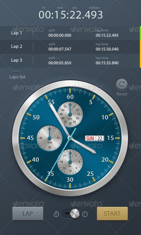 Stopwatch & Timer App Interface