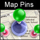 Map Pins - Layered PSD - GraphicRiver Item for Sale