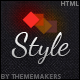 Style Premium One Page Template - ThemeForest Item for Sale