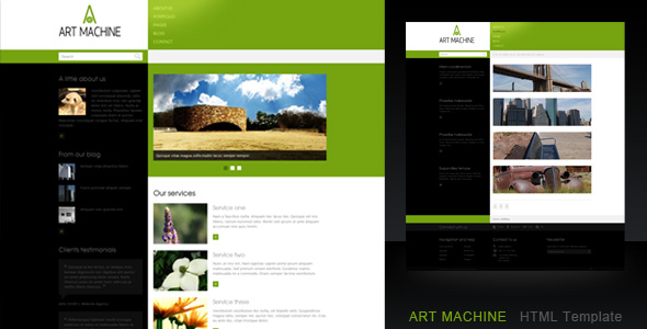 Art Machine HTML Template - Preview image.