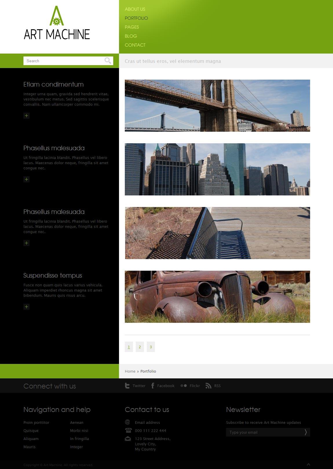 Art Machine HTML Template - Portfolio page - style 1.