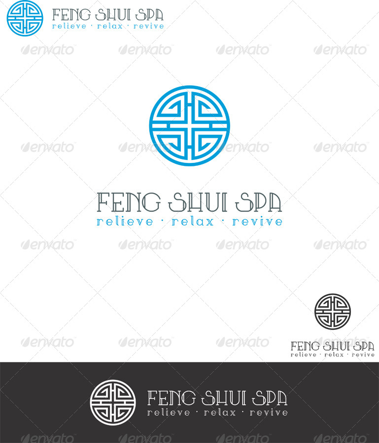 feng shui spa logo template by eladchai graphicriver. Black Bedroom Furniture Sets. Home Design Ideas