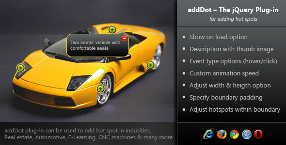 addDot - The jQuery Plug-in for Adding Hot Spots - CodeCanyon Item for Sale