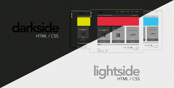 ThemeForest Darkside Lightside Two In One Hosting Layout 165648