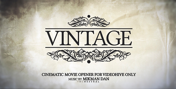 After Effects Project - VideoHive Vintage Opener 1823937