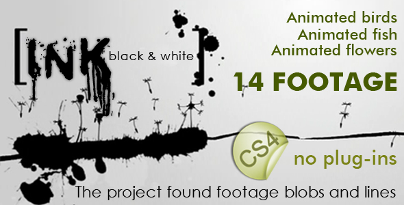 After Effects Project - VideoHive Ink black and white 231336