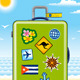 Green Suitcase For Travel - GraphicRiver Item for Sale