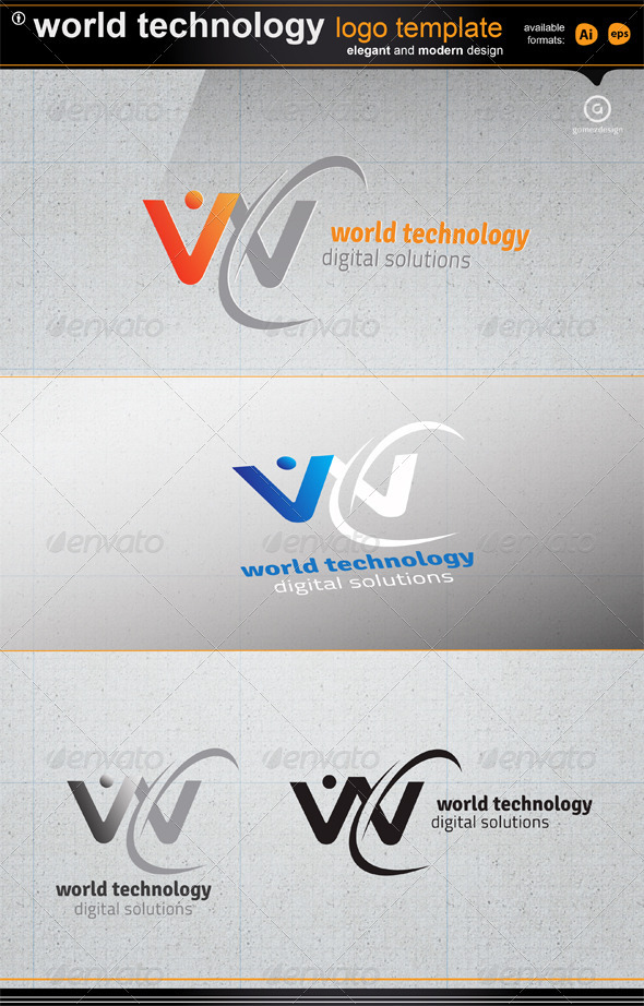 World Technology - Letters Logo Templates