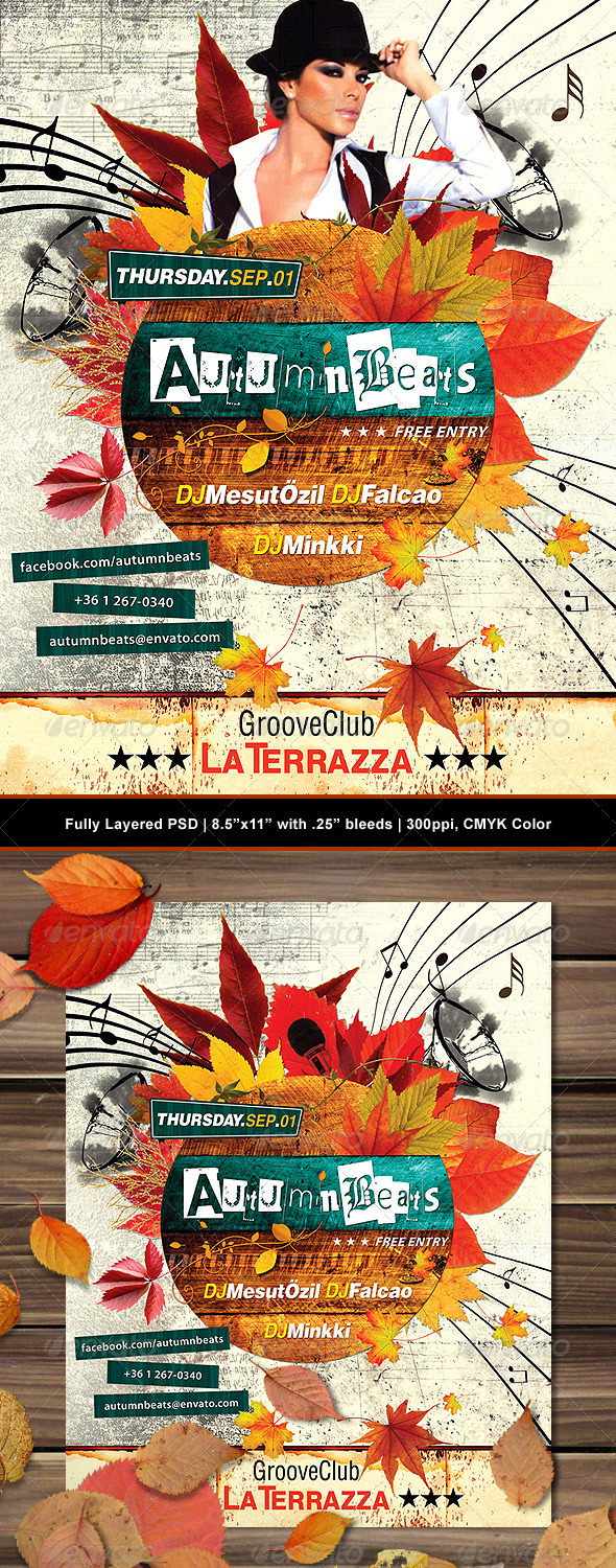 Grunge Autumn Poster/Flyer - Clubs & Parties Events