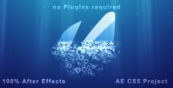 After Effects Project - VideoHive Underwater Logo Reveal and Dispersion 1990857