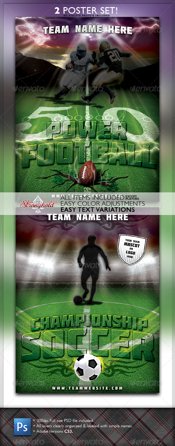 GraphicRiver Sports Flyer 2-Pack 1409063