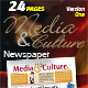 24 Pages Media & Culture Newspaper Version One - GraphicRiver Item for Sale