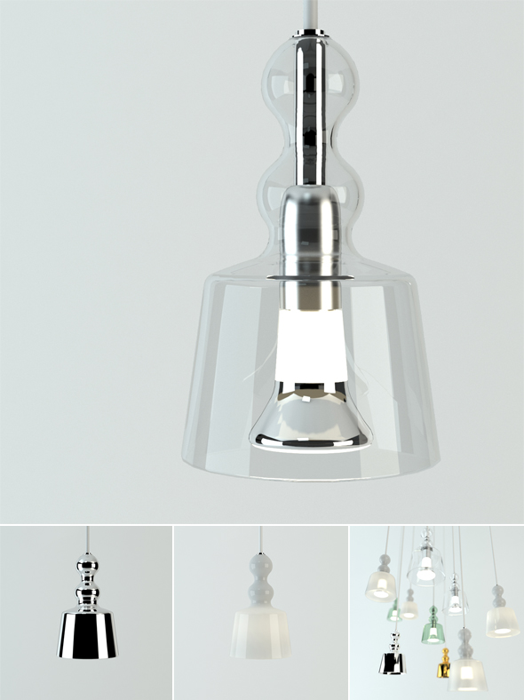 Acquamiky pendent lamp - 3DOcean Item for Sale