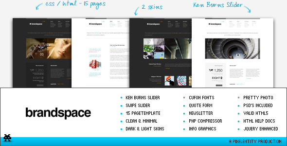 Brandspace - Minimal Portfolio & Business Template - Creative Site Templates