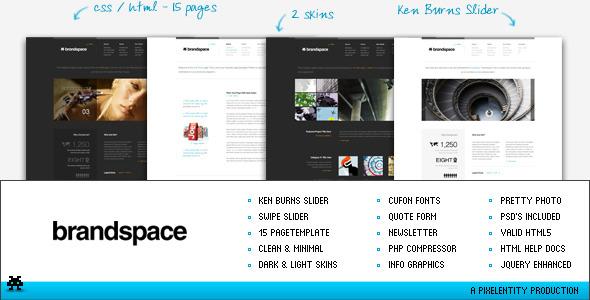 ThemeForest Brandspace Minimal Portfolio & Business Template 194380