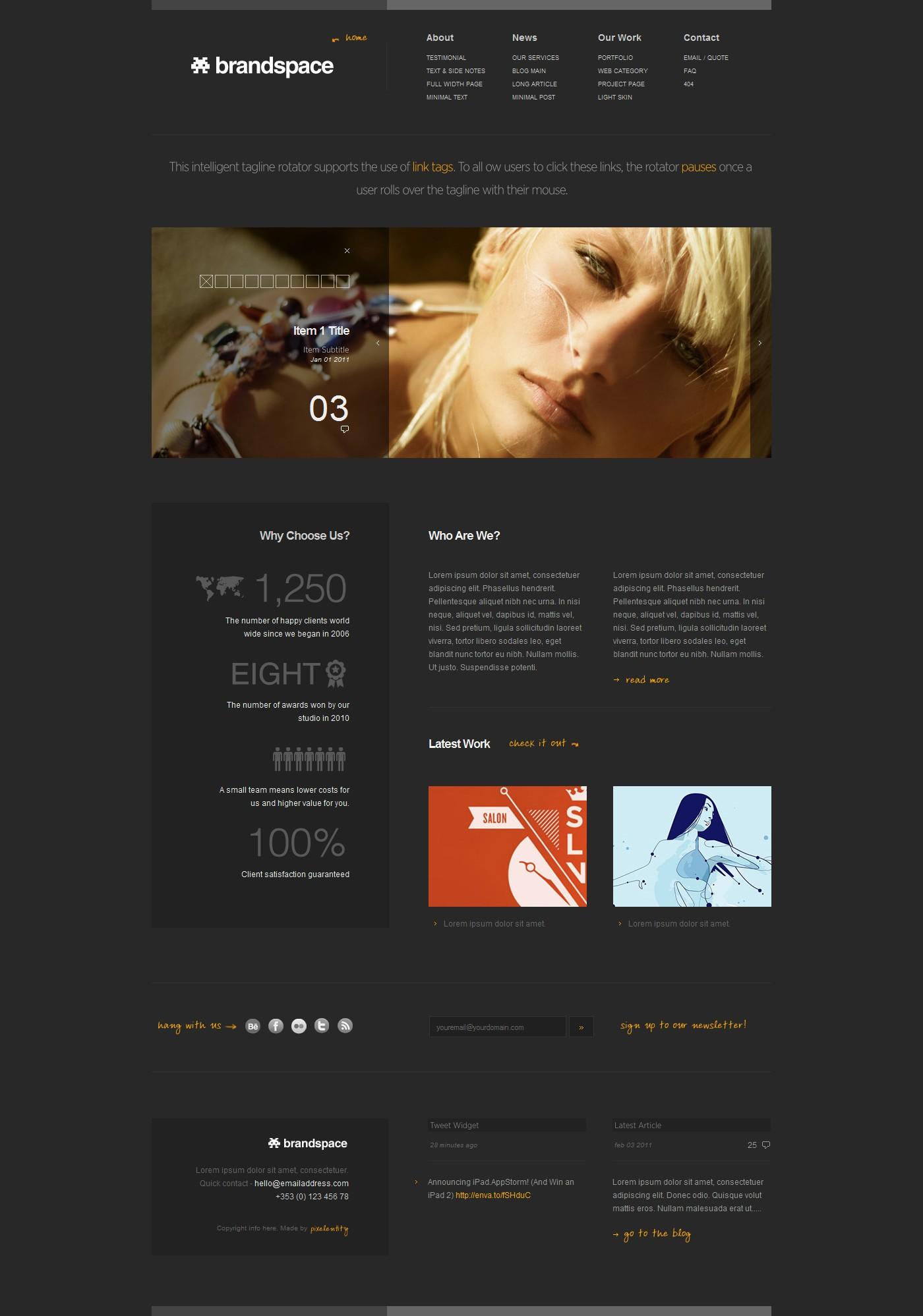 Brandspace - Minimal Portfolio & Business Template