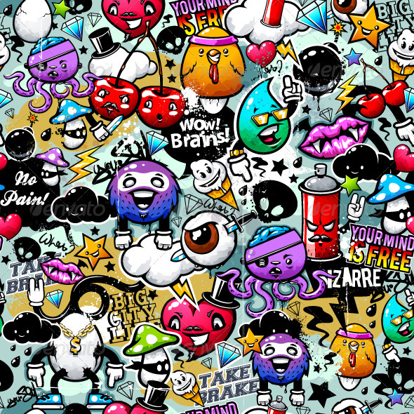 GraphicRiver Graffiti Seamless Texture 1972067
