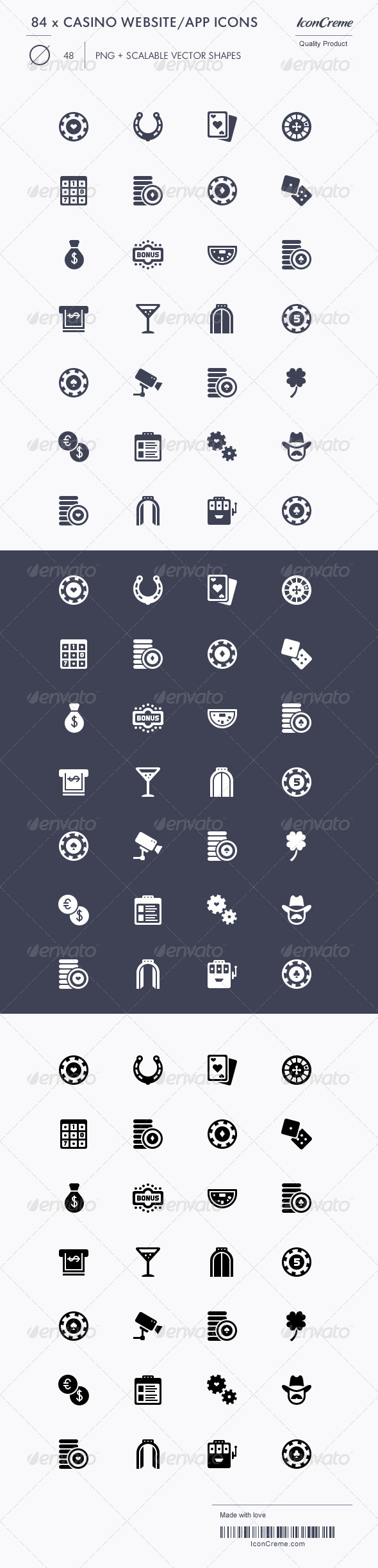 GraphicRiver 84 Casino Website App Icons 1992068